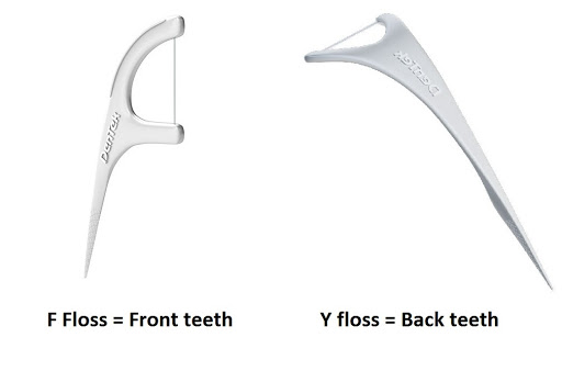 F and Y floss picks