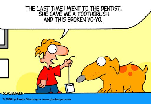 Dentist gave me a broken yo-yo!